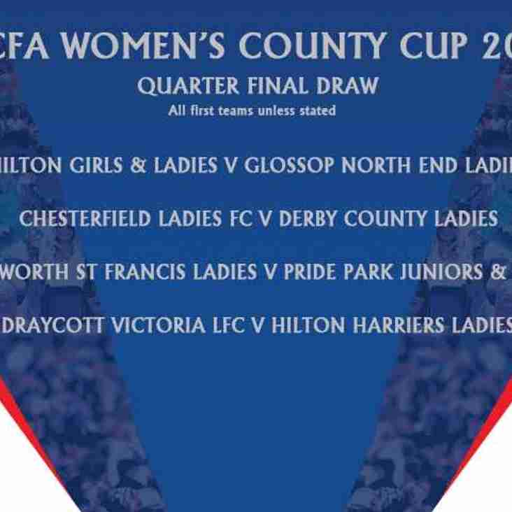 Ladies Drawn away to Saints in County Cup Quarter Final