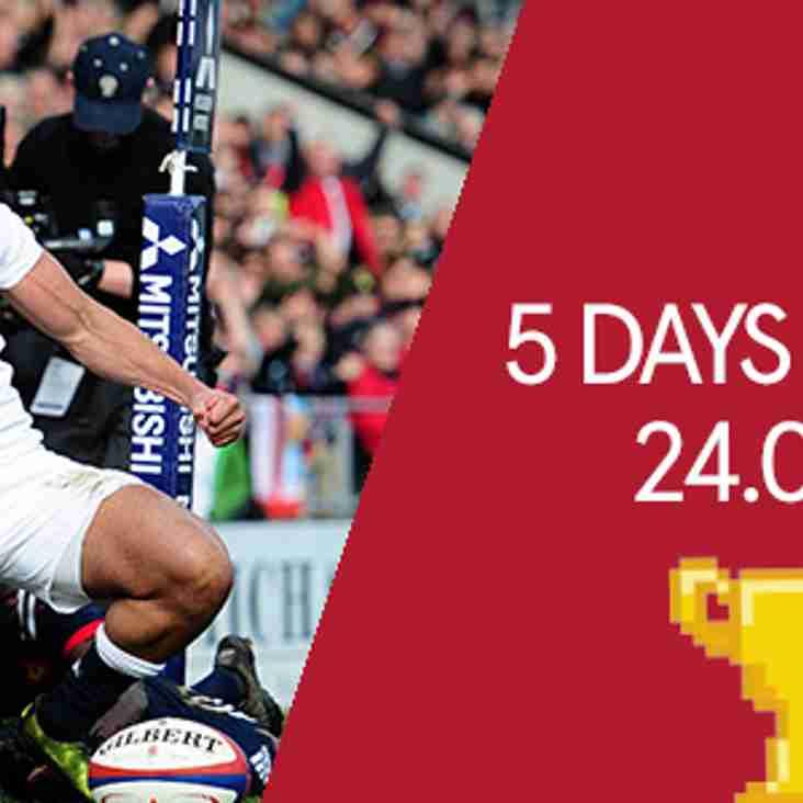 ENGLAND U20s - 5 DAYS TO GO