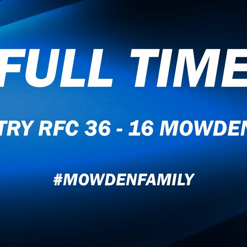 Coventry 36-16 Mowden Park