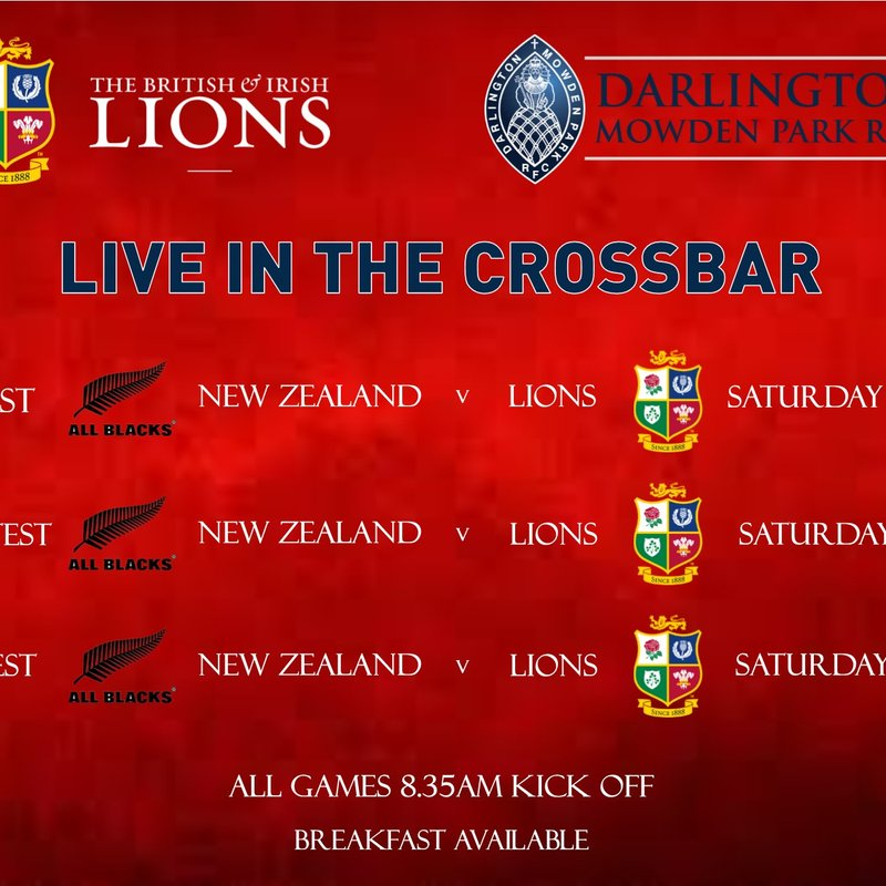 Watch the Lions LIVE in the CrossBar