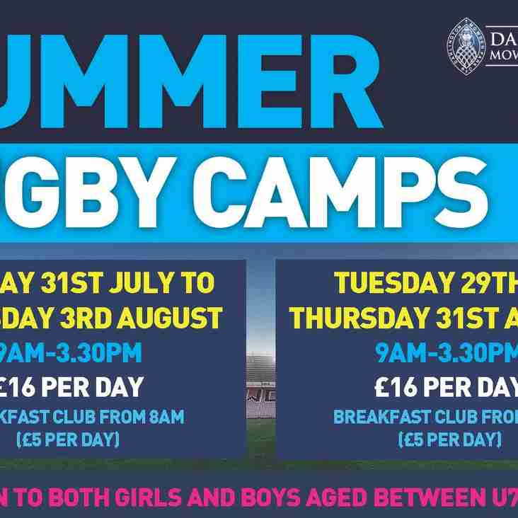 Summer Rugby Coaching Camps - Dates Announced