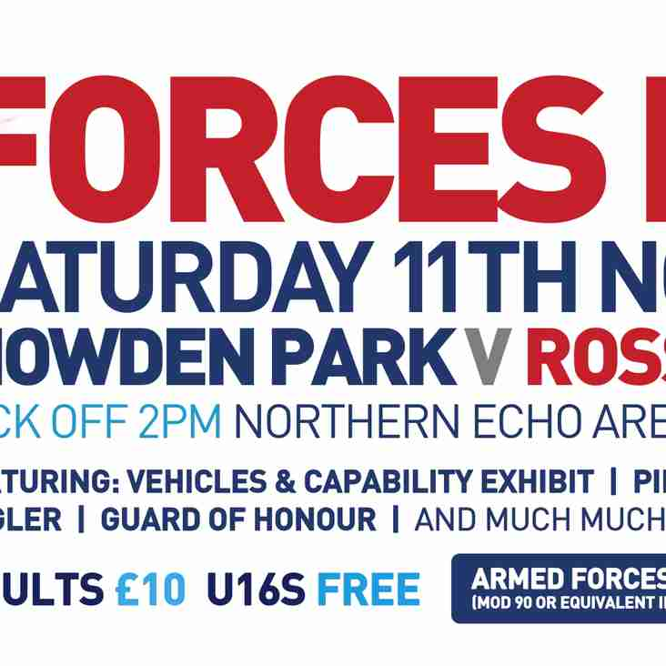 Forces Day - Saturday 11th November