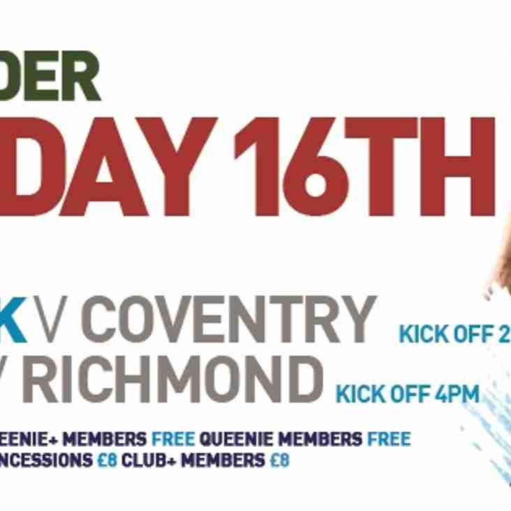 Free School Tickets For Coventry Clash