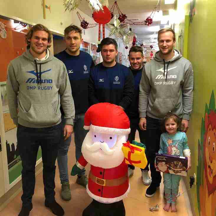 Mowden Park 1st XV Visit Children at South Tees Hospital