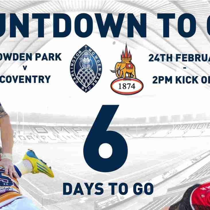 Countdown to Cov - 6 Days to Go