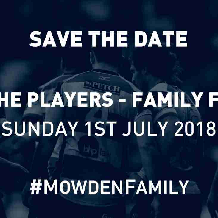 Save The Date! Meet the Players - Family Fun Day