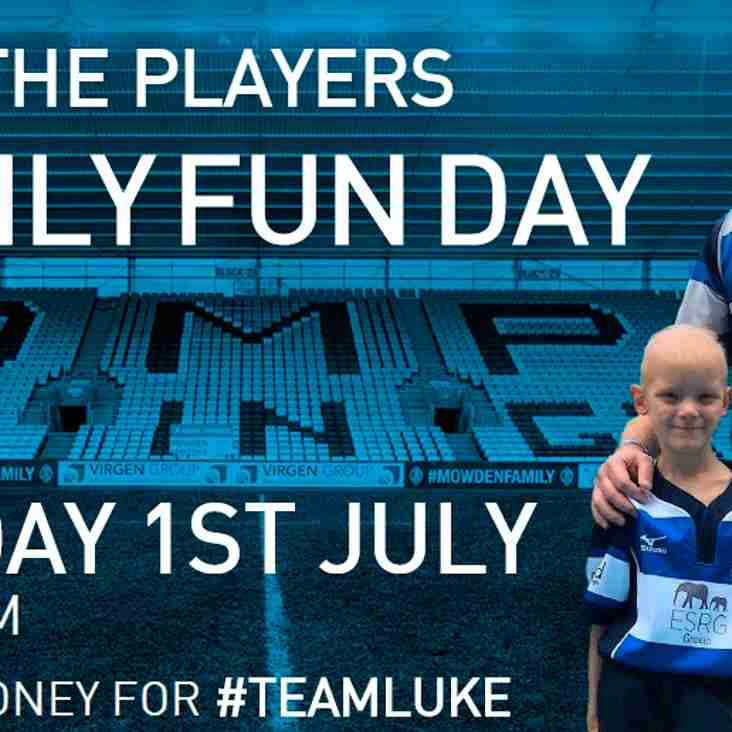 Meet the Players - Family Fun Day - Sunday 1st July