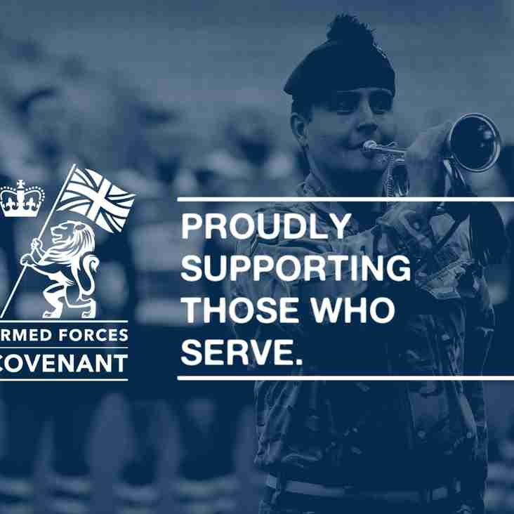 Mowden Sign Armed Forces Covenant