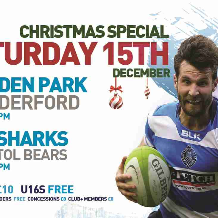 Next Home Game - Saturday 15th December