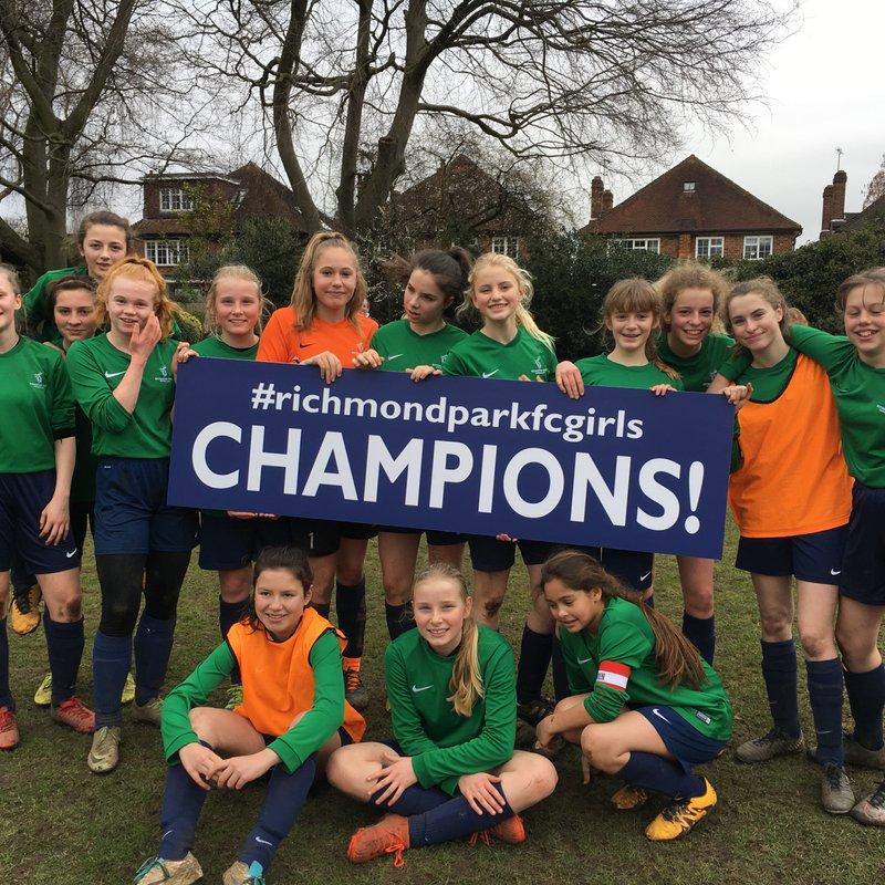 SCWGL Division 1 Champions  - U14s