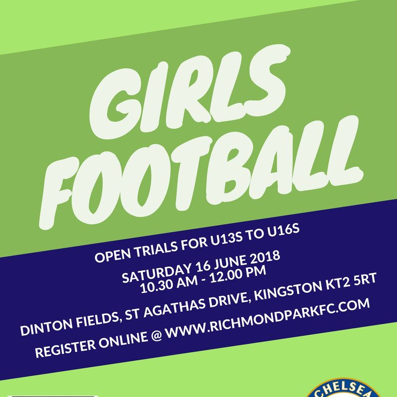 Register to Trial for next (2018/19) Season
