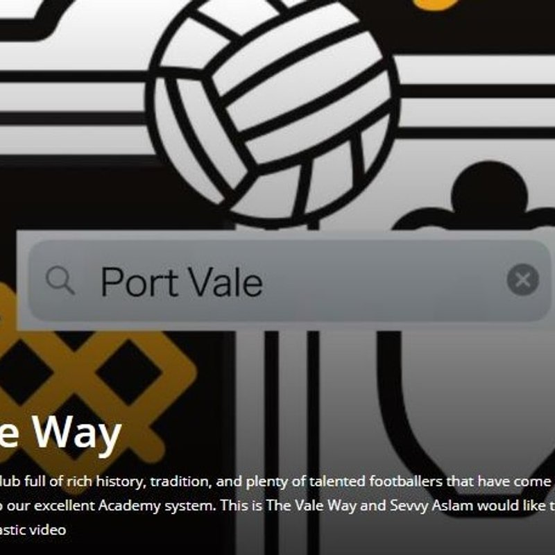 The Vale Way (video behind the scenes)