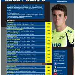 Sale Sharks Summer Camp at Rossendale 18th & 19th August 2016