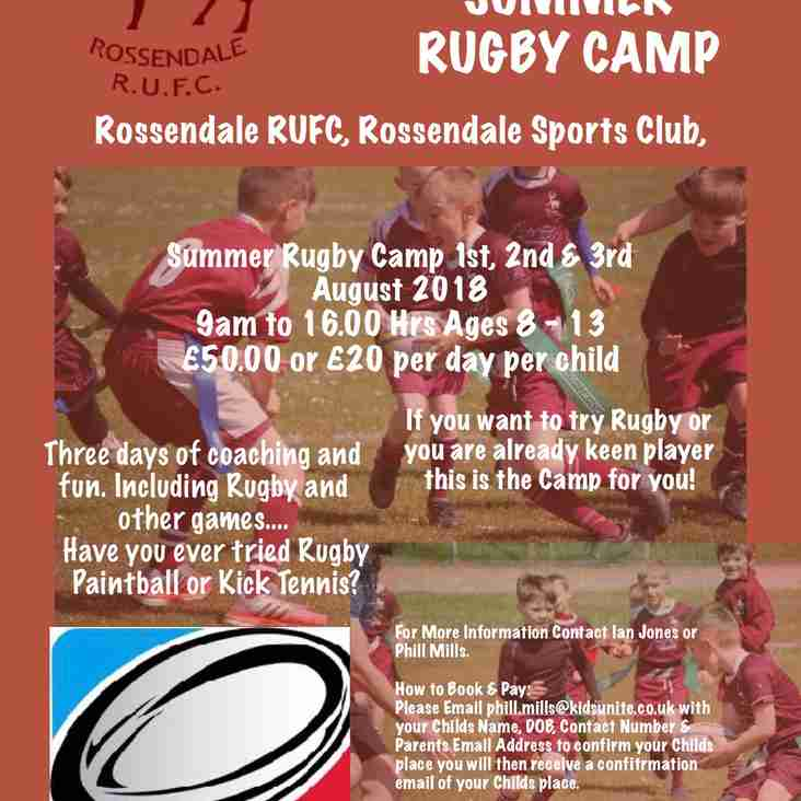 Kids Summer Rugby Camp Returns to Rossendale