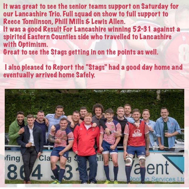 Big Support for our Lancashire Trio Last Saturday