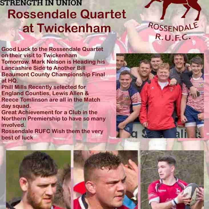 Rossendale Quartet at Twickenham