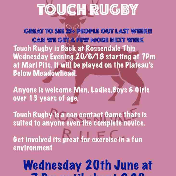 Touch Rugby Tonight
