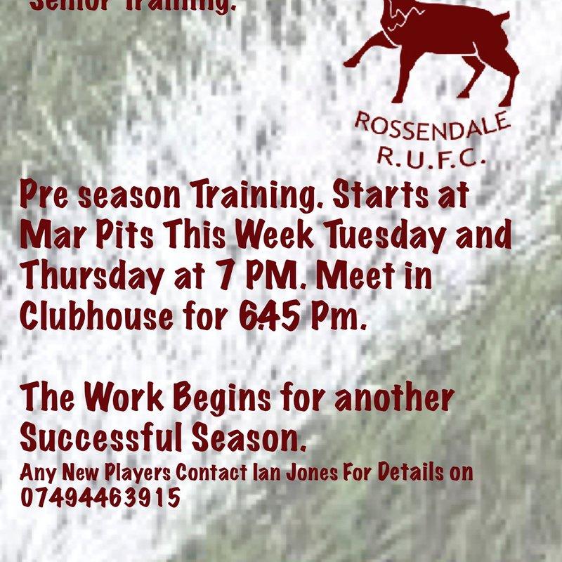 Preseason Training Gets Under way This Week