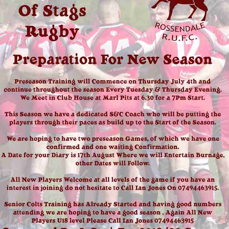 PreSeason Training and Warm Up Games