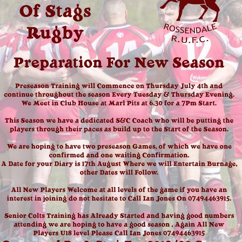 PreSeason Training and Warm Up Games