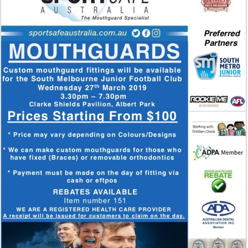 Mouthguard Fittings - Junior Footy