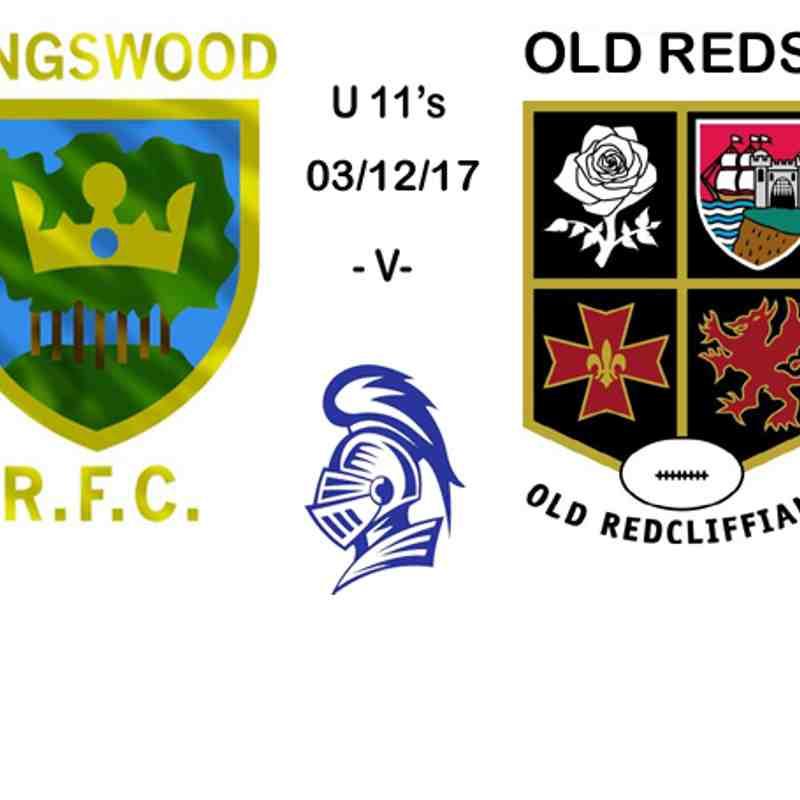 U11s -v- Old Reds 03/12/17