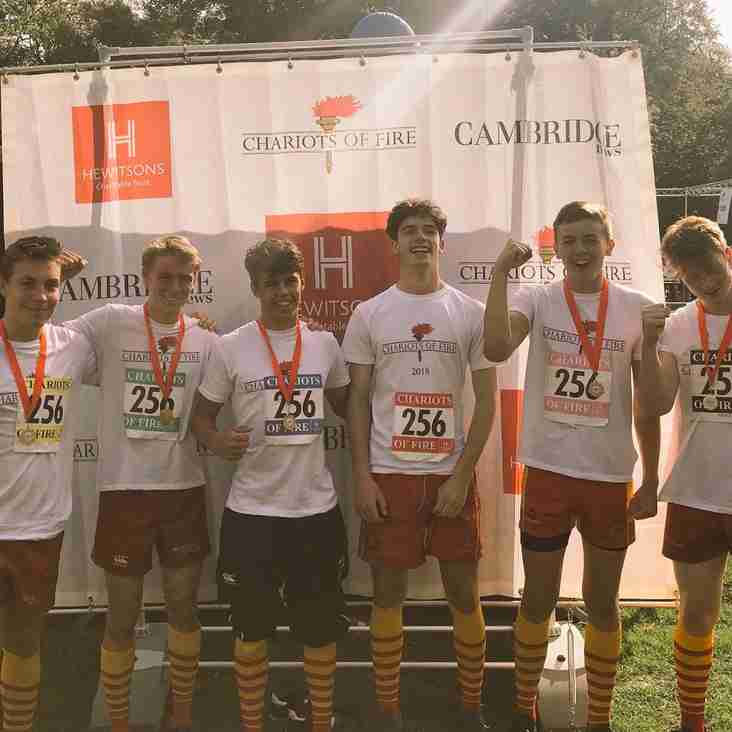 CRUFC finish 9th in Chariots of Fire charity run