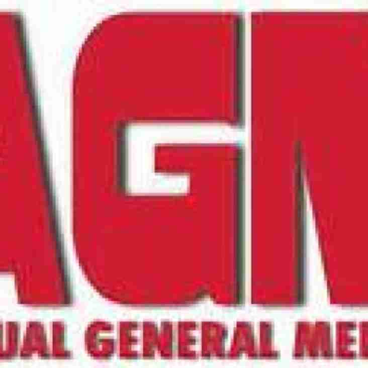 Date change of AGM now Wednesday 11th May 2016