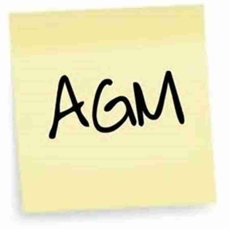 Club AGM 2018 - 27th April at 7.30pm