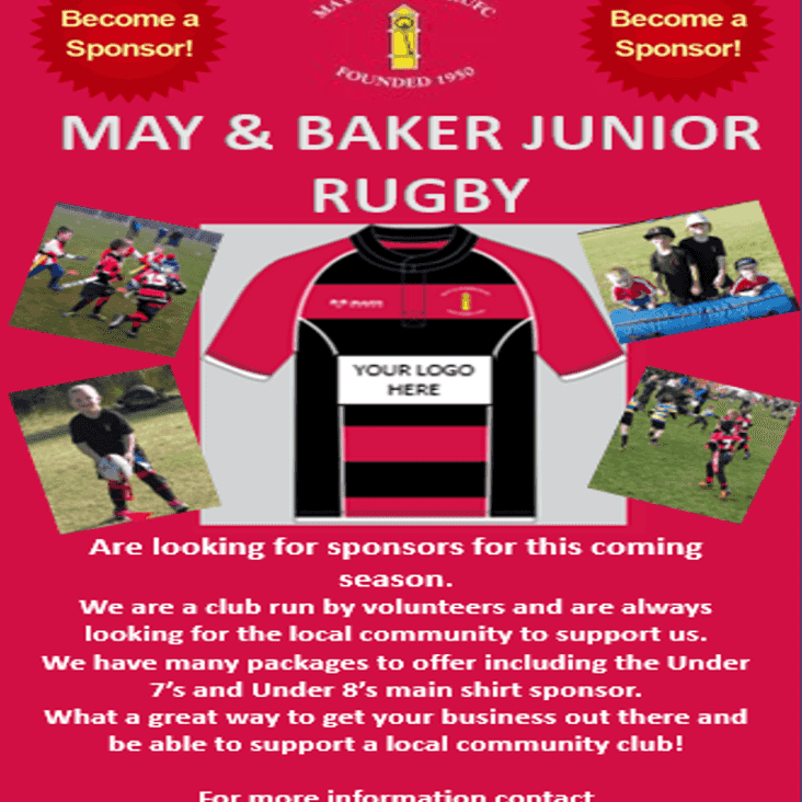 Junior Section Looking For Sponsorship