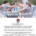 Youth Rugby Coming to Bakers