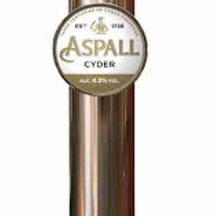 Aspall's Cider is a new arrival at RCC!