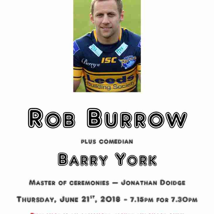 An evening with Leeds Rhinos legend Rob Burrow