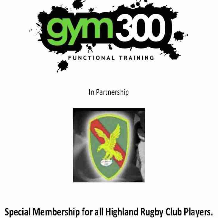 Special Membership for all Highland Rugby Club Players