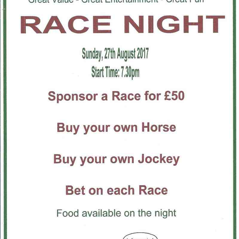 Race Night 27 August