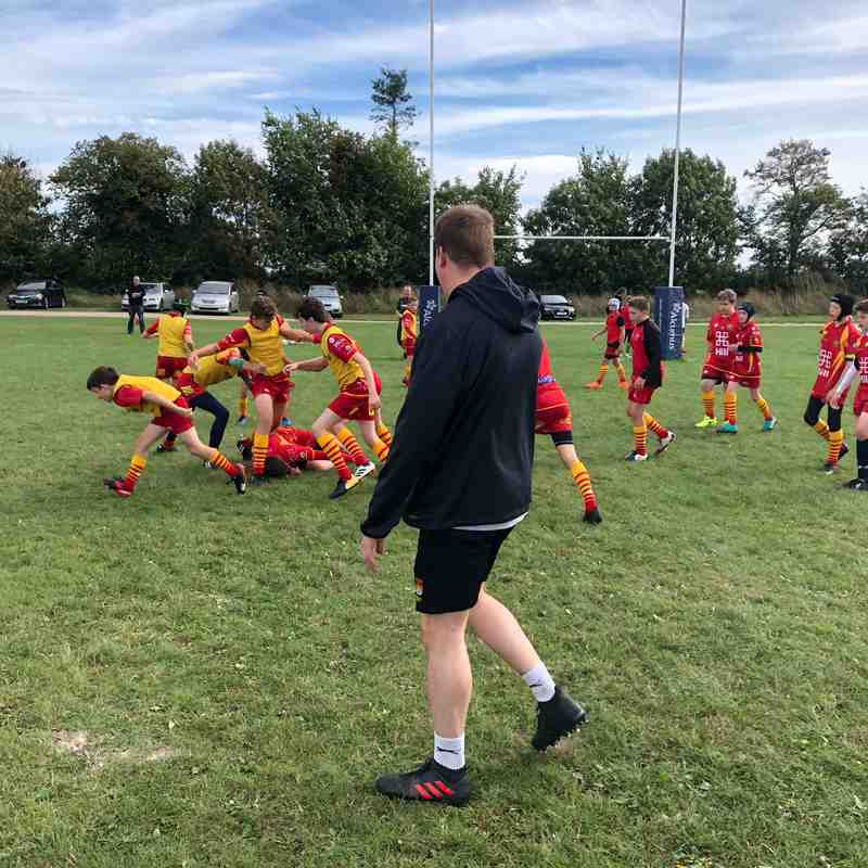 Under 14s Training with CRUFC's Declan Sully