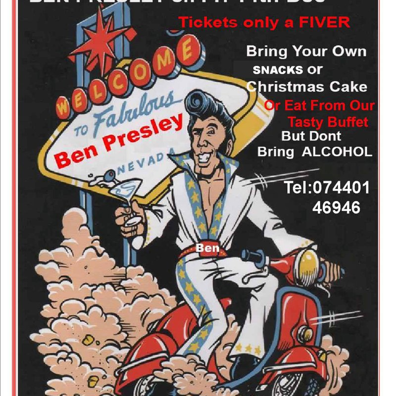 Make a Date on Friday14th December an ELVIS live show  Night