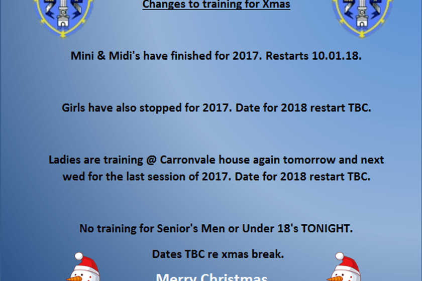 Xmas Training