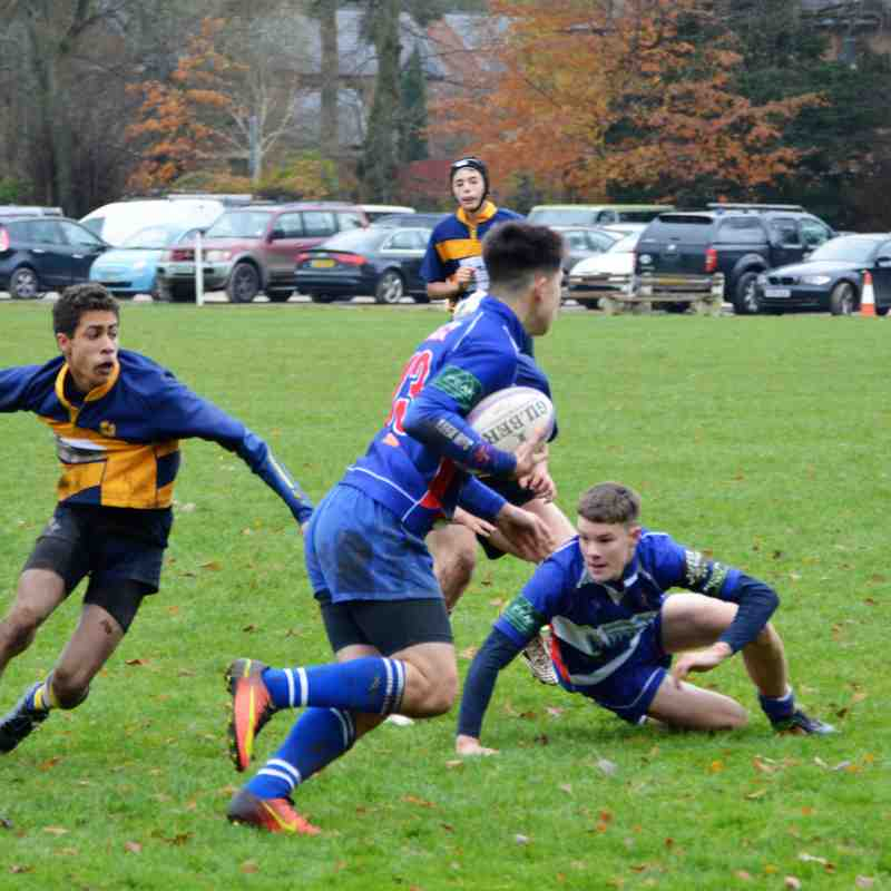 U15's Home to Ashbourne 20th November 2016