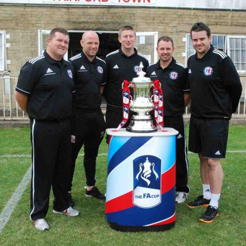 The FA Cup Trophy - at Fairford Town!