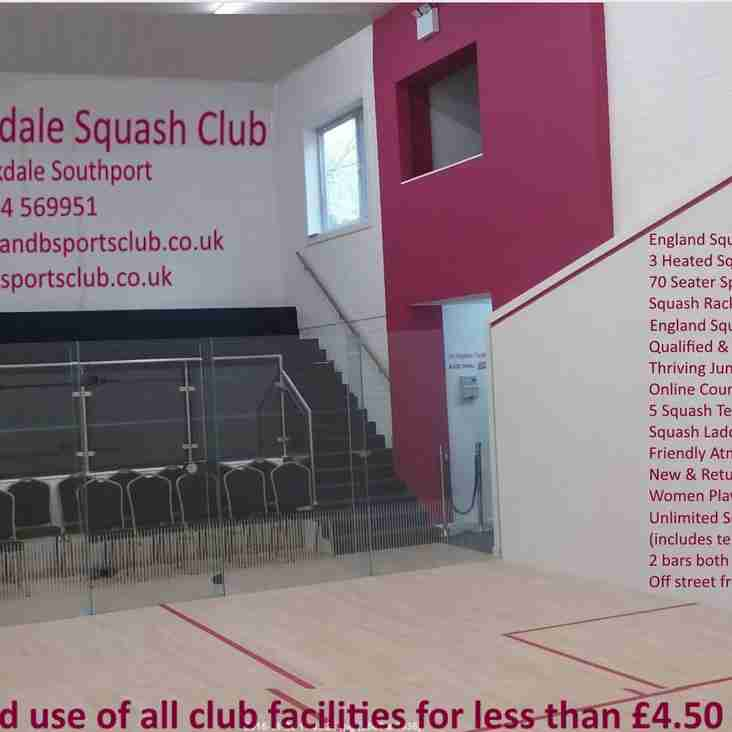 Come and Join S & B Squash