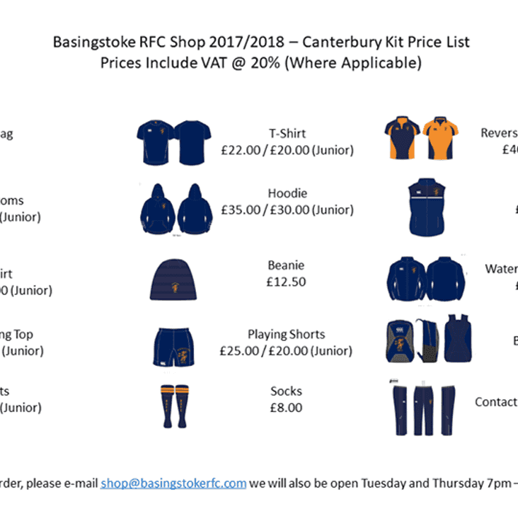 BRFC Shop is being restocked!!!