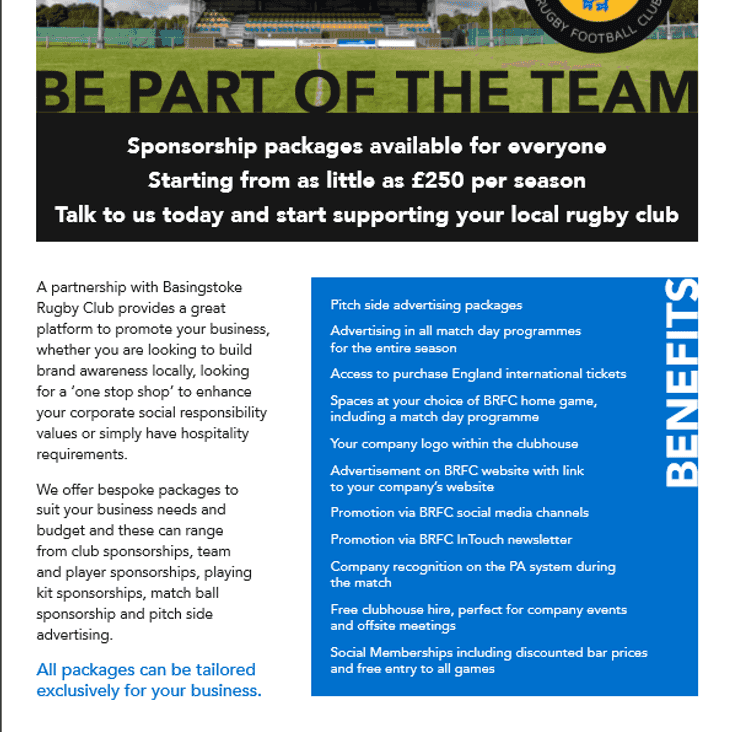 Sponsorship Opportunities at BRFC