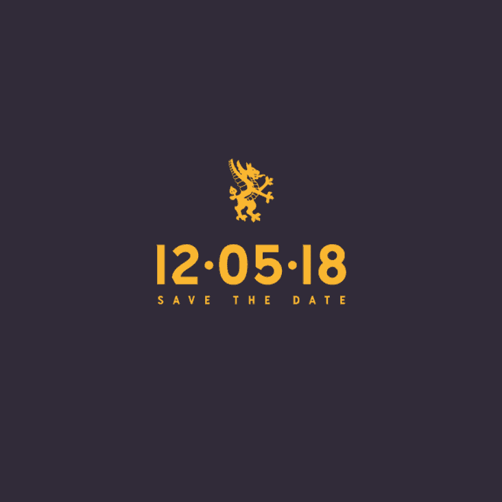 Save the date - 12/05/2018
