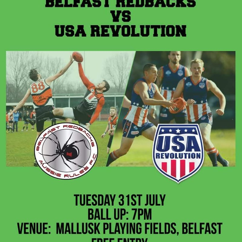 Belfast Redbacks Vs USA Revolution