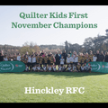 Quilter Kids First Champions winner – November: Hinckley RFC
