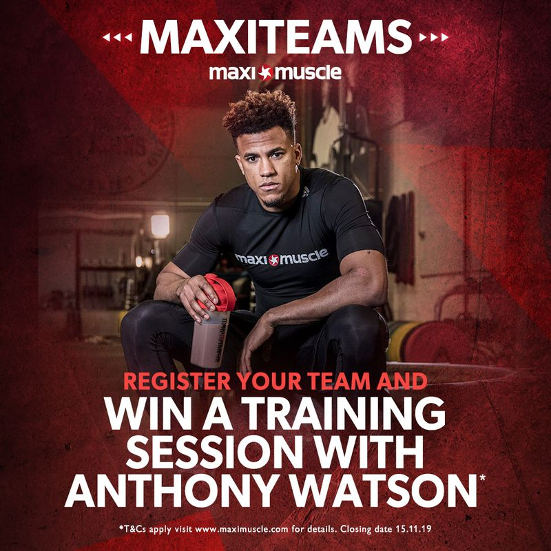 Win a Maximuscle training session with Anthony Watson