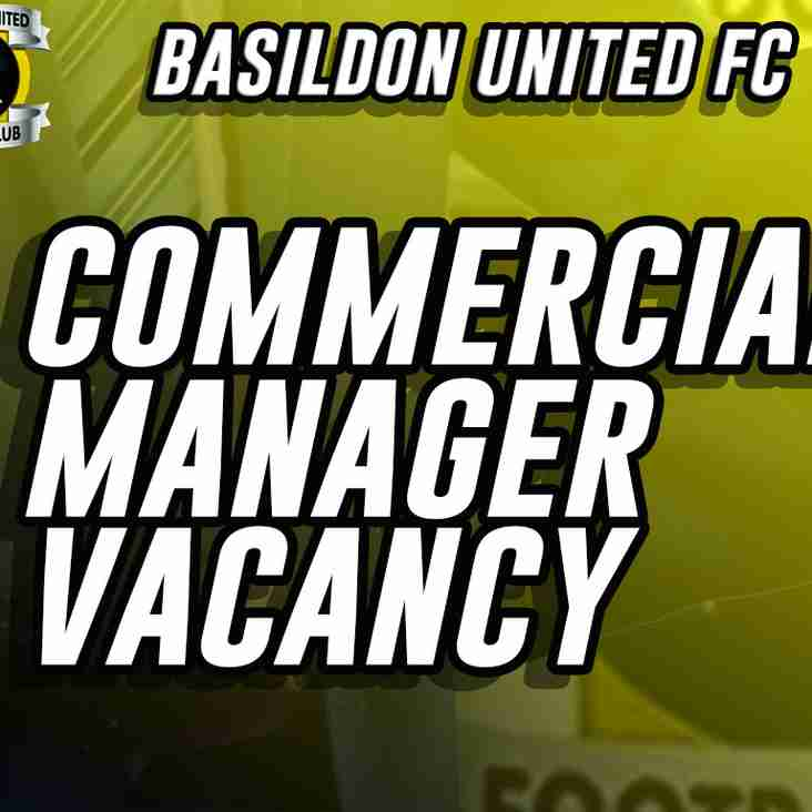 Part Time Commercial Manager Wanted