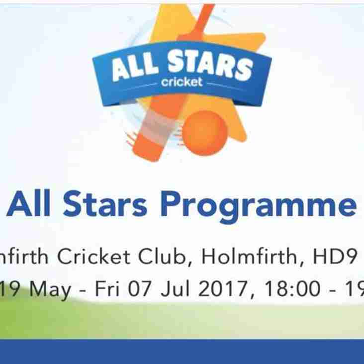 Holmfirth CC Joins the ECB All Stars Program for 8s and under.