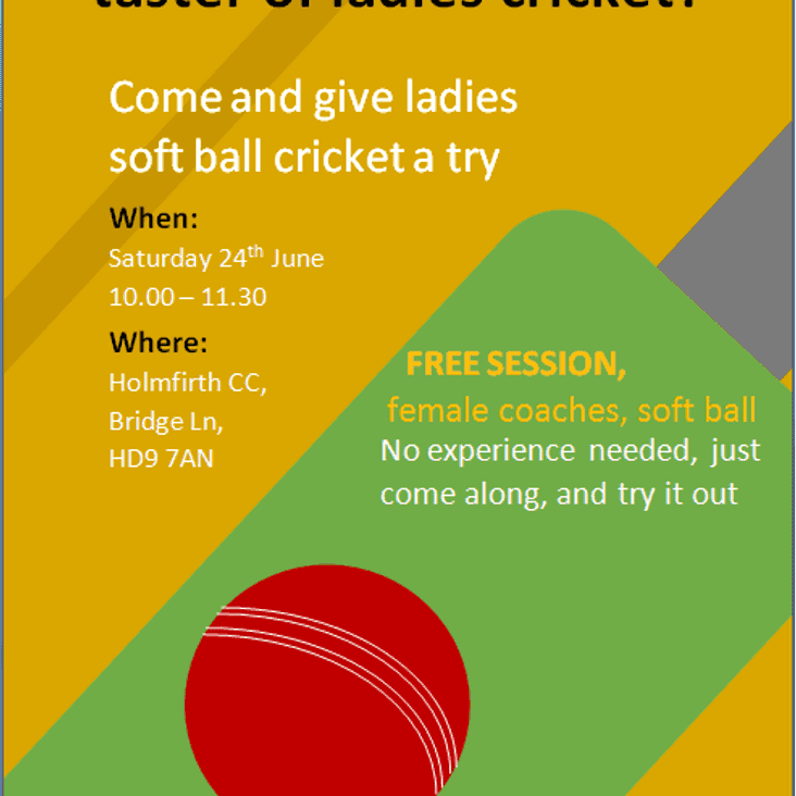 Come and give ladies soft ball cricket a try!